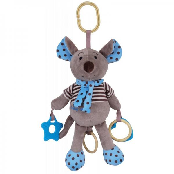 "Musical pull string toy""Blue Mouse"""