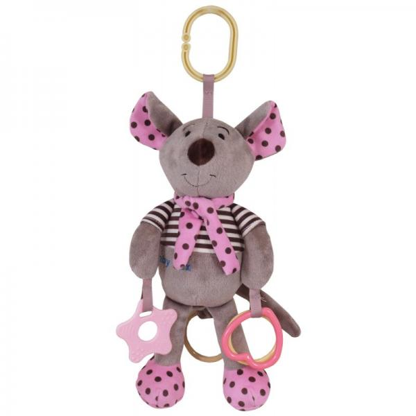 "Musical pull string toy""Pink Mouse"""