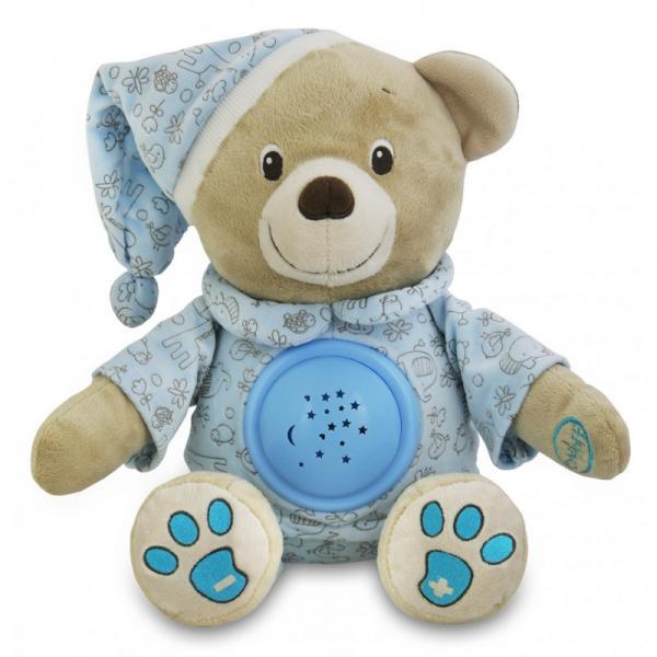 Pehme Muusikaline Karu Milus-Projektor Sinine