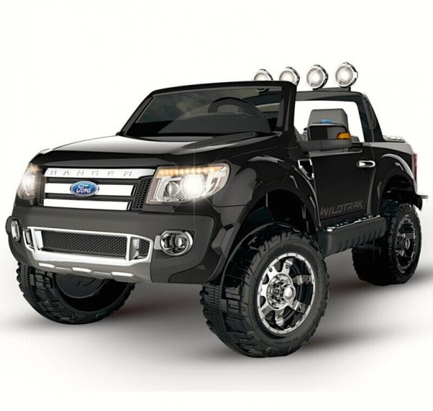 Children ride on car FORD RANGER with rubber wheels (Black)