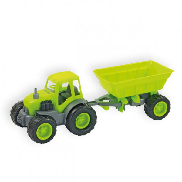 Tractor with trailer 45 cm (rubber wheels)