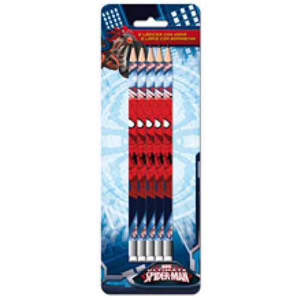 Комплект простых карандашей с резинкой SPIDERMAN 5шт.