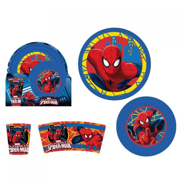Plastic breakfast set 3pcs. SPIDERMAN