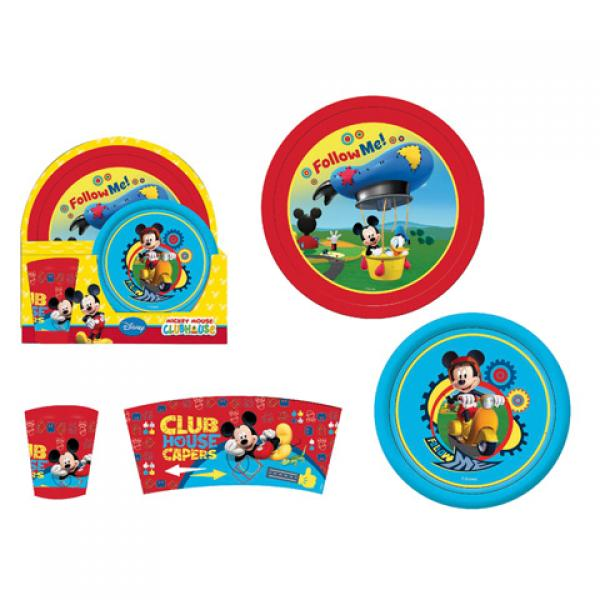 Plastic breakfast set 3pcs. MICKEY