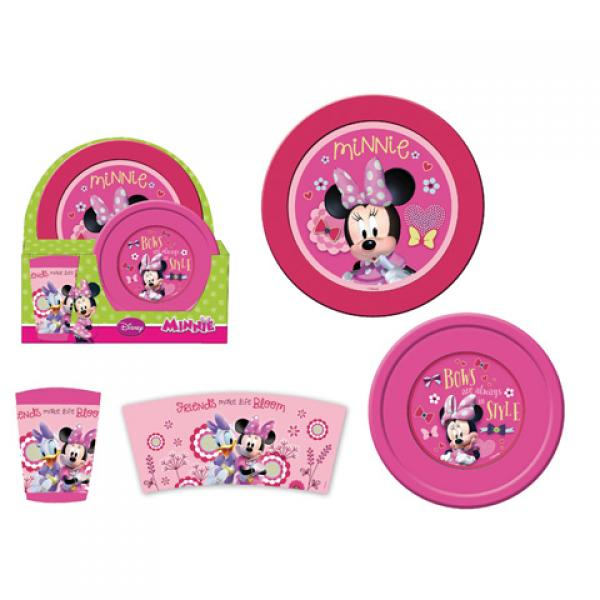 Plastic breakfast set 3pcs. MINNIE