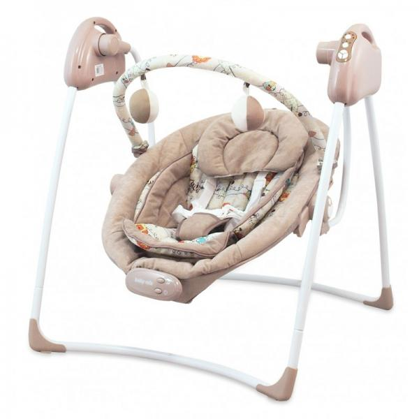 Baby swing with music and vibration (Latte)