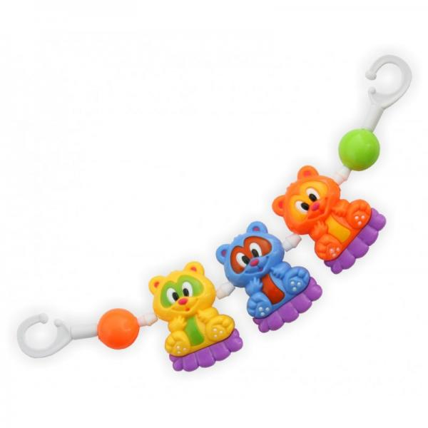 "Plastic rattle for stroller ""Bears"""