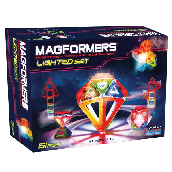 """Magnetic Magformers """"Lighted Set"""""""