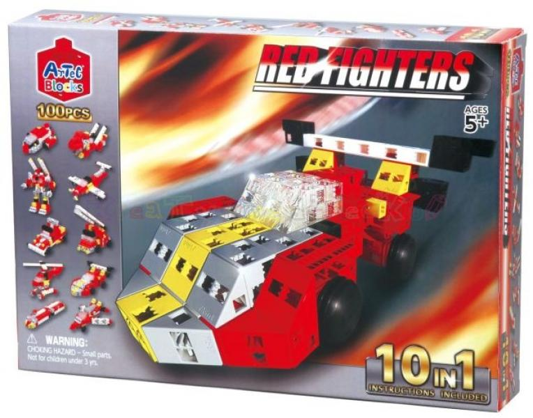 "Artec Blocks ""Red Fighters Cars"" 10 in 1 , 100 pcs."
