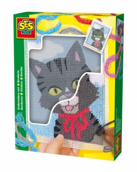 Children's Embroidery Cat, SES