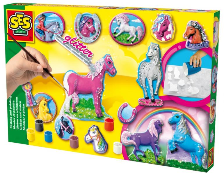 Children's Fantasy Horses Casting and Painting Set, SES