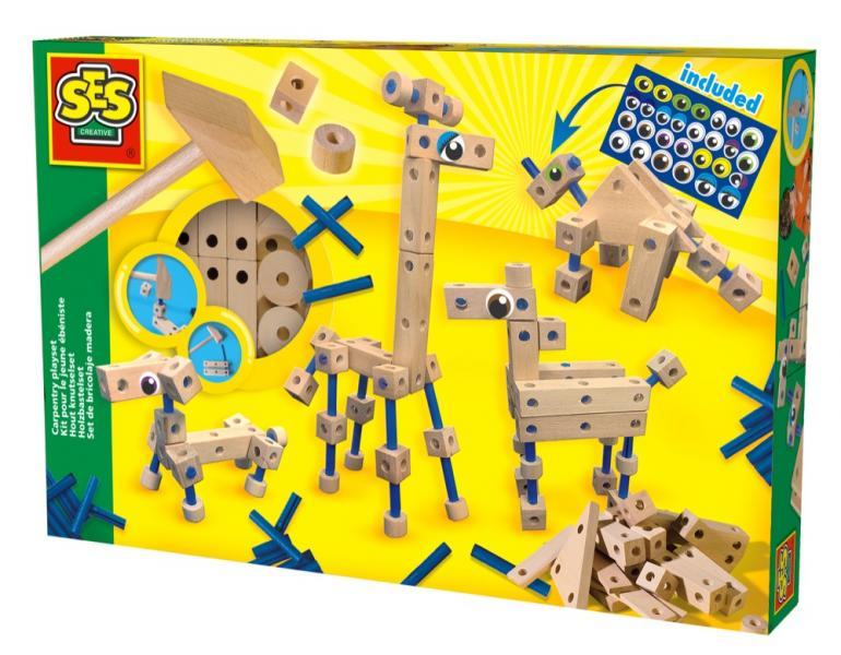 Carpentry playset with eyes, SES