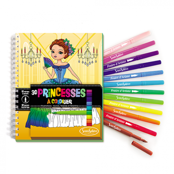 "Colouring book with felts ""Princesses"""