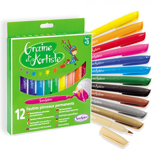 Viltpliiatsid värvilised (erksad) 12 tk