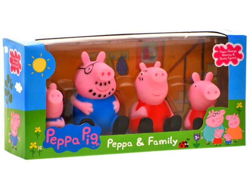 Põrsake Peppa Pig Minifiguurid kummist 4 tk