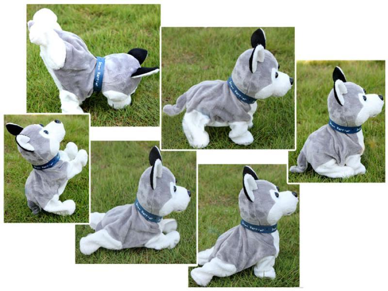 Interaktiivne pehme koer Husky