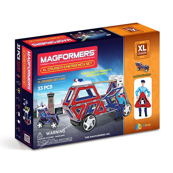 "Magnetkonstruktor Magformers ""Cruisers Emergency Car Set XL"""