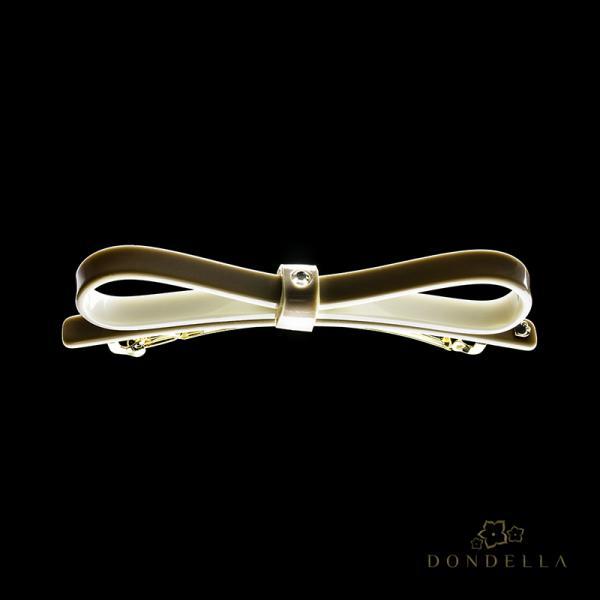 Dondella Juukseklamber Beige Bow 23-2K