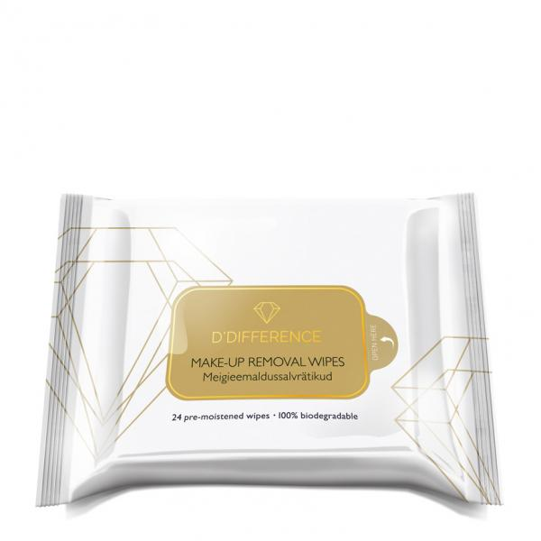 D'Difference Make-Up Removal Wipes