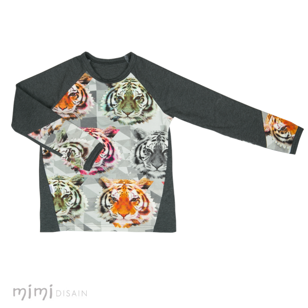 Mimi Shirt Tiger Long Grey Sleeves