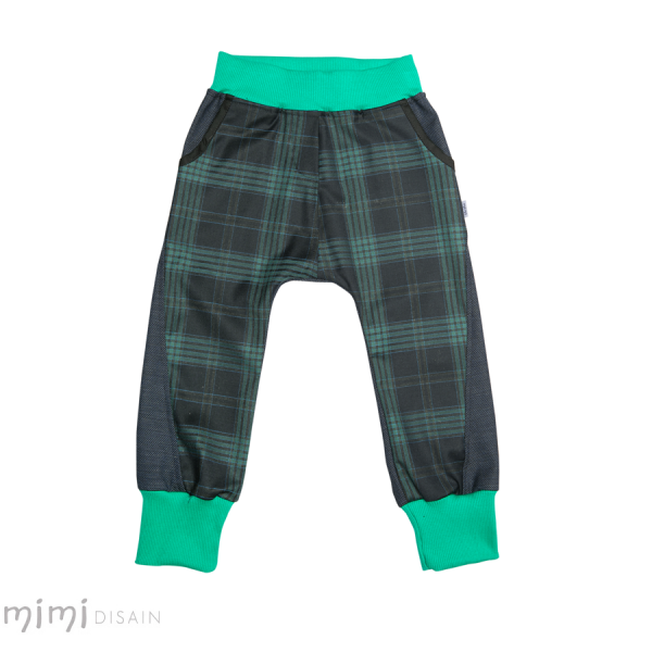Mimi Baggies Blue Green Plaid
