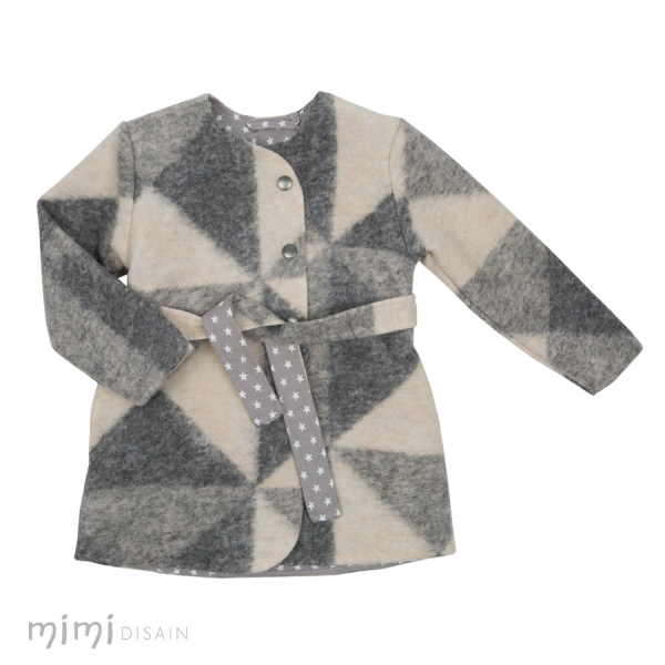 Mimi Coat Anna Grey Triangle