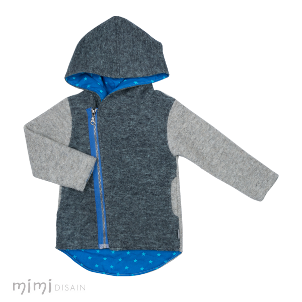 Mimi Jacket Peter Wool Blue/Grey