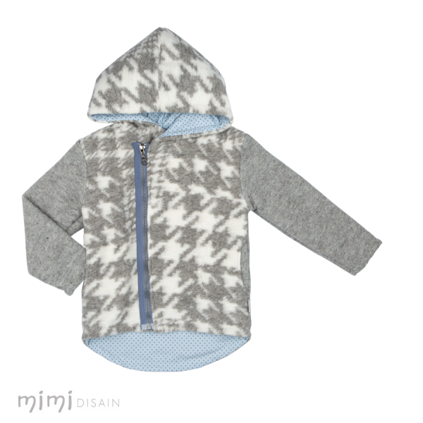 Mimi PETER White Grey jacket