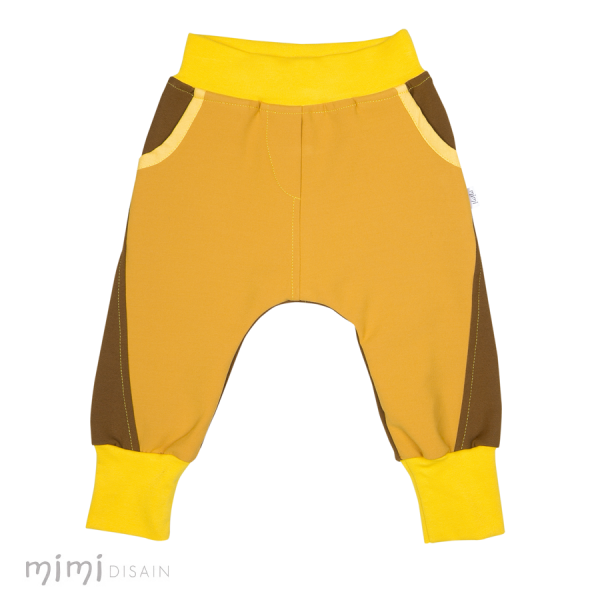 Mimi Baggies Yellow Brown