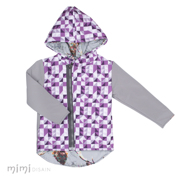 Mimi Softshell Purple Rhomb
