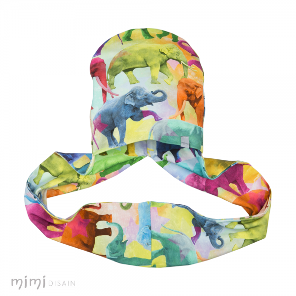 Mimi Hat/Scarf Elephants