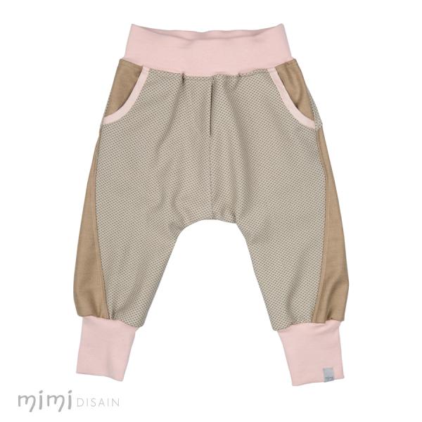 Mimi  Baggies Beige/Pink