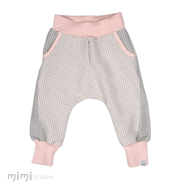 Mimi Baby Baggies Pink/Grey