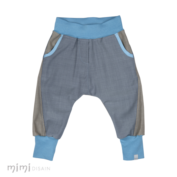 Mimi Baby Baggies Grey/ Blue