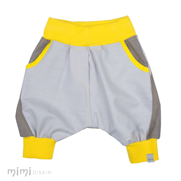 Mimi Yellow Grey Knee Baggies