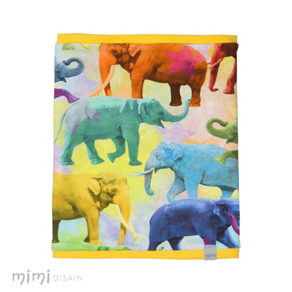 Mimi Tube Scarf Elephantes Yellow