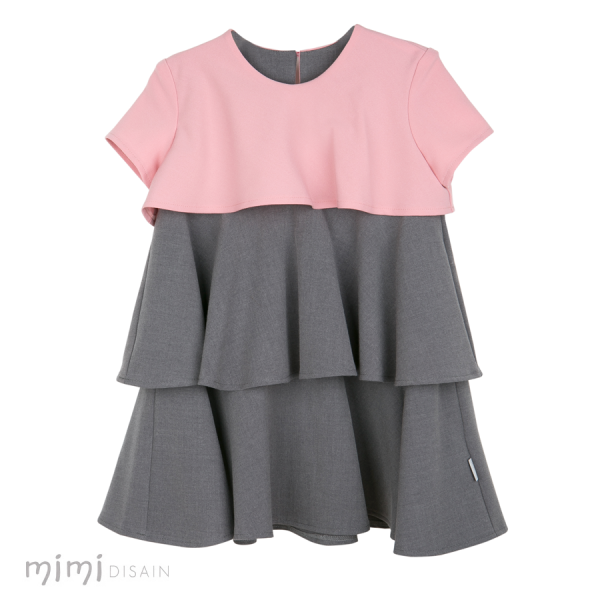 Mimi Tinkerbell Dress Grey/ Pink