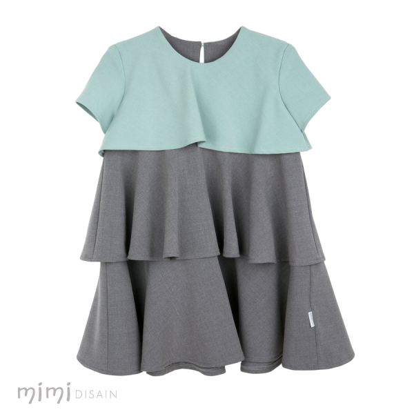 Mimi Dress Tinkerbell Grey/ Green