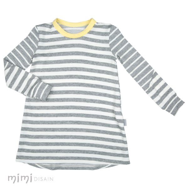 Mimi Thumby Tunic Grey Stripe