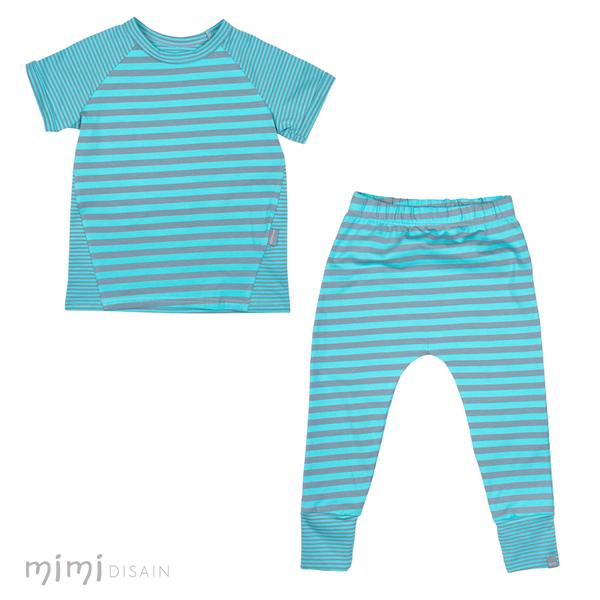 Mimi Play Set Turquoise Stripe