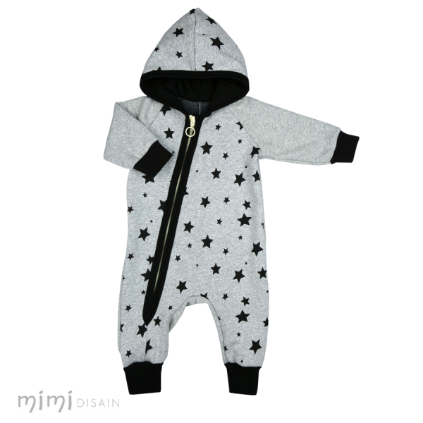 Mimi Jumpsuit  Grey/ Black Stars