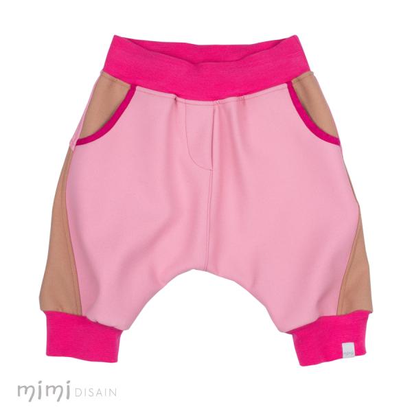 Mimi Baggie Knee Pants Pink/ Beige