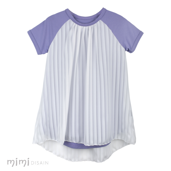 Mimi Laura Dress Dark Purple/ White