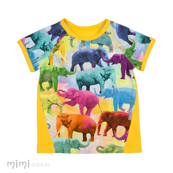 Mimi Tee Elephant Yellow