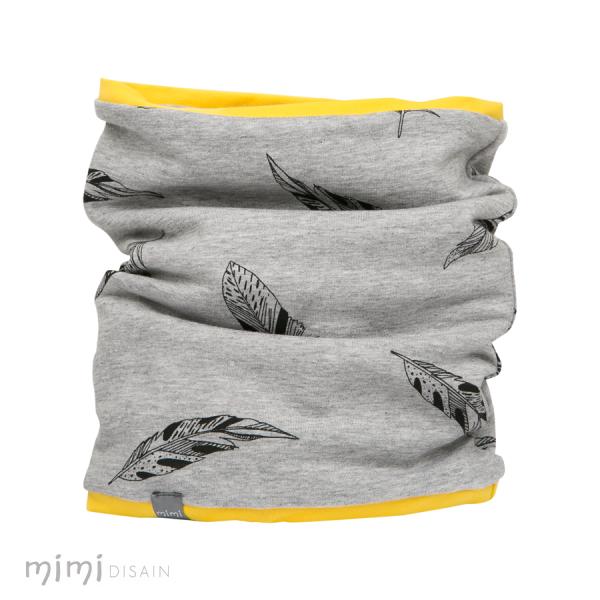 Mimi Tube Scarf Feather Yellow