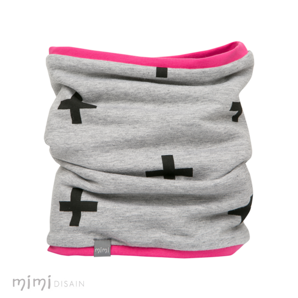 Mimi Tube Scarf Cross Pink