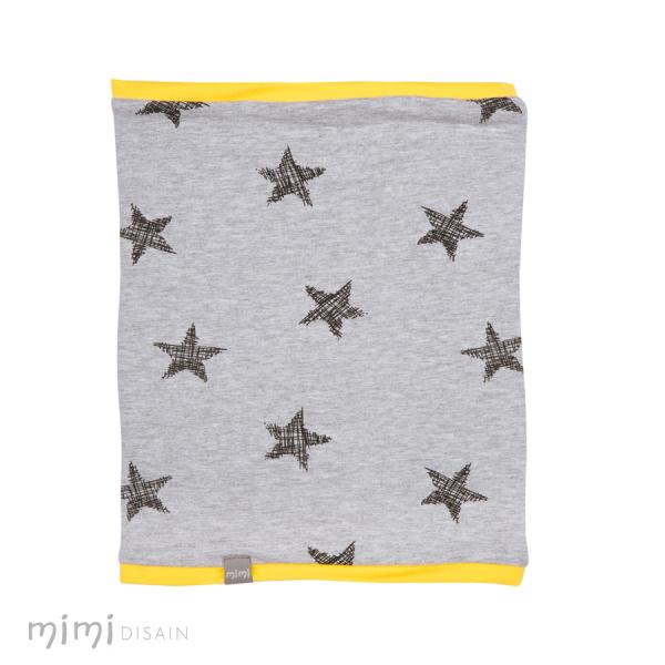 Mimi Tube Scarf Star Yellow