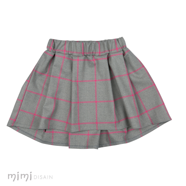 Mimi Gray Skirt with Pink