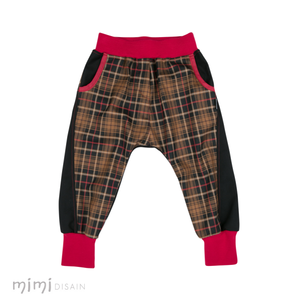 Mimi Baggies Red Brown Plaid