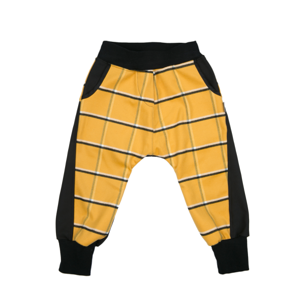 Mimi Baggies Yellow/ Black Plaid